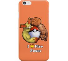 I Heart Fire Foxes iPhone Case/Skin