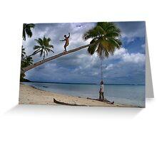 And Funambulist - Pohnpei, Micronesia Greeting Card