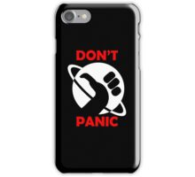Hitchhikers Guide To The Galaxy - Don't Panic iPhone Case/Skin