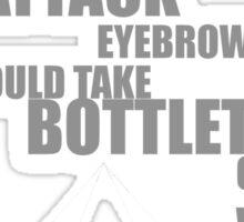 Attack Eyebrows Sticker