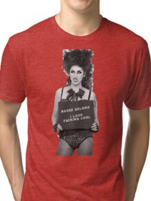 Adore Delano looks f***ing cool! Tri-blend T-Shirt