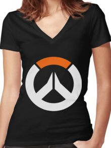 Overwatch Logo Women's Fitted V-Neck T-Shirt