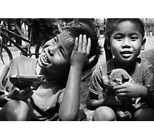 Playthings - Phu Hin Bun, Laos Photographic Print
