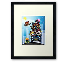 Last Day of Summer Street Fighter Poster Framed Print