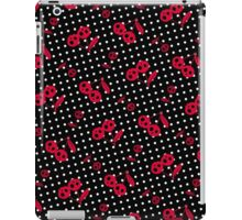 Dots with Cherry Skulls - Black Red iPad Case/Skin