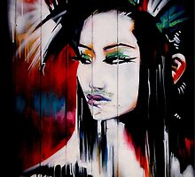 brick lane graffiti oriental girl by andalaimaging