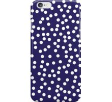 Cute Navy and White Polka Dots iPhone Case/Skin