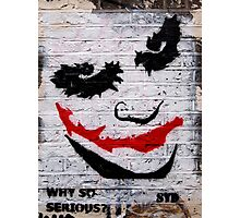 brick lane graffiti joker Photographic Print