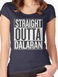 STRAIGHT OUTTA DALARAN Women's Fitted Scoop T-Shirt