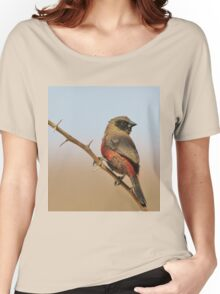 Blackcheeked Waxbill - Finding Thorny Solitude Women's Relaxed Fit T-Shirt