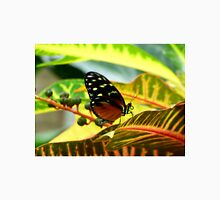 Butterfly on Yellow Tropical Plant Unisex T-Shirt