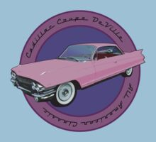 Pink Cadillac - Classic American Retro Car  Kids Clothes