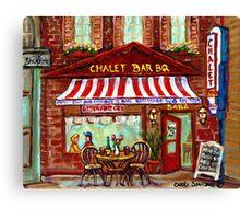 MONTREAL CHALET BBQ ROTISSERIE Canvas Print