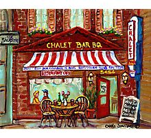 MONTREAL CHALET BBQ ROTISSERIE Photographic Print