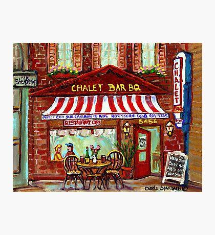 MONTREAL CHALET BBQ ROTISSERIE Photographic Print