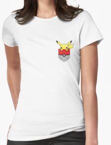 Pocket Pikachu Womens Fitted T-Shirt