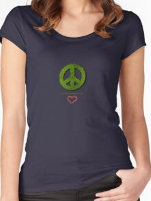 Let Us Love The World To Peace Women's Fitted Scoop T-Shirt