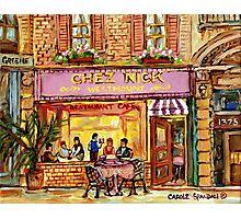 MONTREAL CAFES CHEZ NICK'S RESTAURANT MONTREAL CITY SCENES Photographic Print