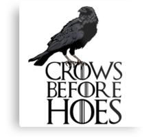 Crows before hoes  Metal Print