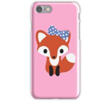 Fox with Bow iPhone Case/Skin