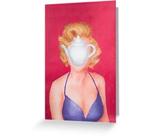 Magritte inspired Marilyn Greeting Card