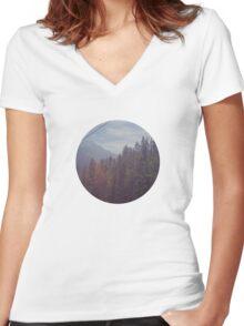 Gondola Views Women's Fitted V-Neck T-Shirt