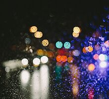 Rain against the windshield by Cayton Cox