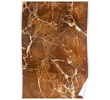 Aged bronze marble pattern Poster