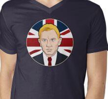 007: Daniel Craig on Union Jack Mens V-Neck T-Shirt