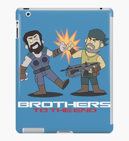 Gears of War brother to the end iPad Case/Skin