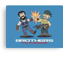Gears of War brother to the end Canvas Print