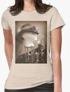 Steampunk Display 1.0 Womens Fitted T-Shirt