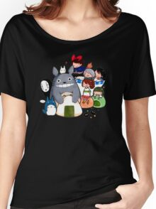 funny ghibli full colour Women's Relaxed Fit T-Shirt