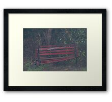 Dilapidated Bench  Framed Print