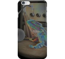 Bearded dragon rock music iPhone Case/Skin