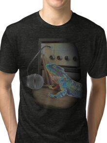 Bearded dragon rock music Tri-blend T-Shirt