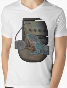 Bearded dragon rock music Mens V-Neck T-Shirt