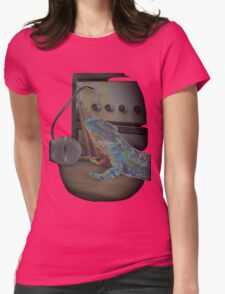 Bearded dragon rock music Womens Fitted T-Shirt