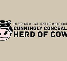 Cunningly Concealed Herd of Cows by debaroohoo