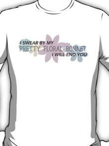 Pretty Floral Bonnet T-Shirt