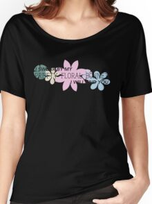 Pretty Floral Bonnet Women's Relaxed Fit T-Shirt