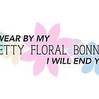 Pretty Floral Bonnet by debaroohoo