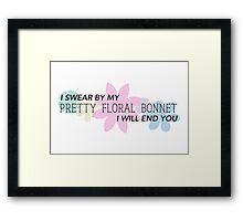 Pretty Floral Bonnet Framed Print