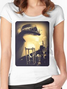 Steampunk Display 1.2 Women's Fitted Scoop T-Shirt