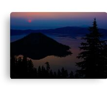Smoky Sunrise over Crater Lake Canvas Print