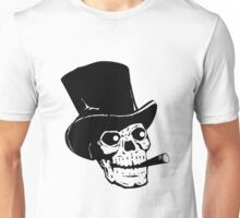 Skull with top hat and cigar Unisex T-Shirt