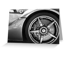 Ferrari LaFerrari: details 2 Greeting Card