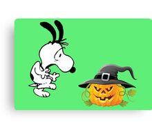 snoopy halloween Canvas Print