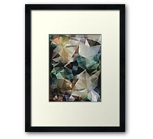 Abstract Grunge Triangles Framed Print