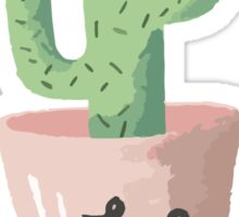 Love Cactus  // Watercolor Pink + Green #lifestyle Sticker